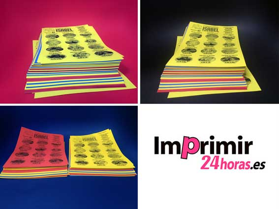 Flyers Fluor - Flyers Papel de colores