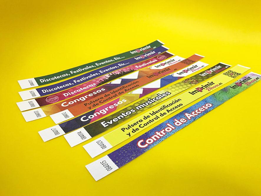 2854aef03694 Imprimir Pulseras Tyvek Personalizadas para eventos